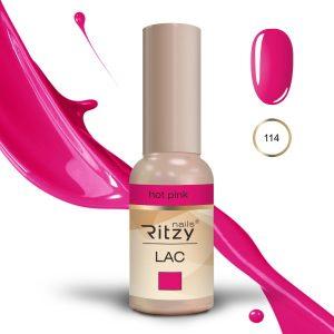 """Ritzy Lac """"Hot Pink"""" 114 gel polish"""