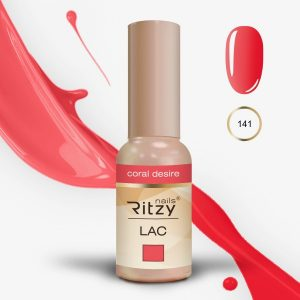 "Ritzy Lac ""Coral Desire"" 141 gel polish"