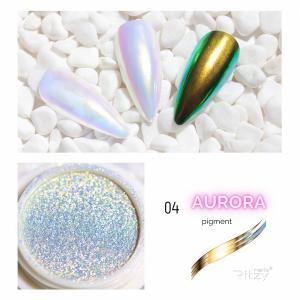 "AURORA (Unicorn) pigment 04 ""Golden-Rainbow"""