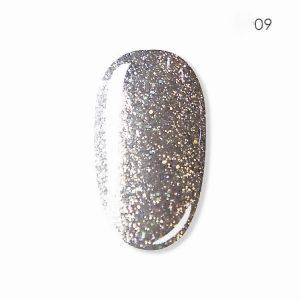 "Ritzy DIAMOND RIVIERA Gel Polish ""Holo Silver"" 09"