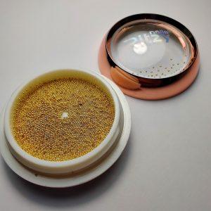 Ritzy Art Metalic Beads 0.6mm GOLD